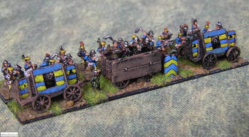 Pendraken Later Hungarian battle wagons