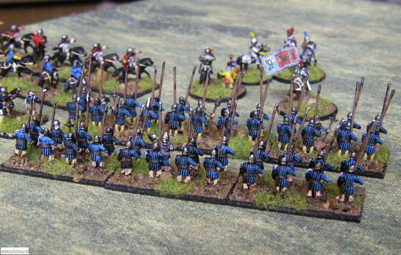 Pendraken Later Hungarians spearmen