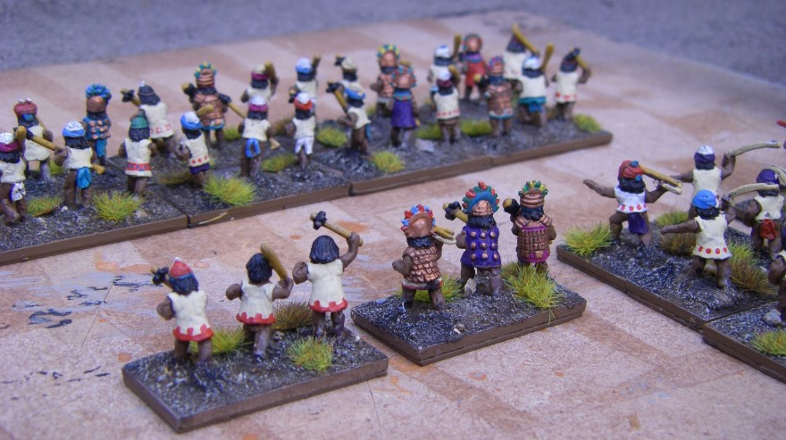 Painting The Chimu Imperial Army 1350-1480AD, Lurkio figures for DBA, 15mm