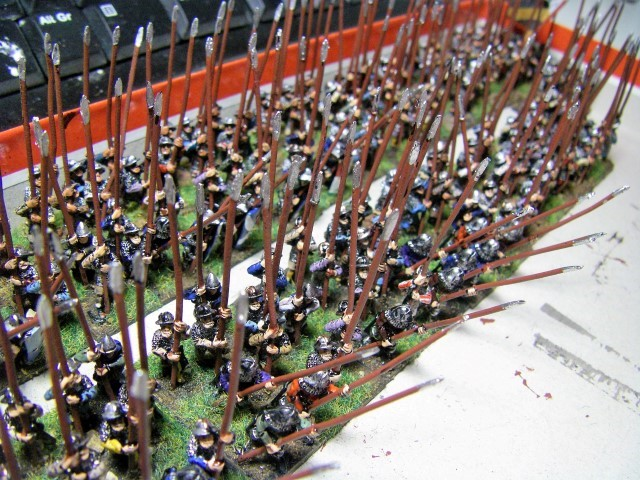 Photos of Medieval Scots, Low Countries, Renaissance Peasants Revolt, 15mm Miniatures for L'Art de la Guerre