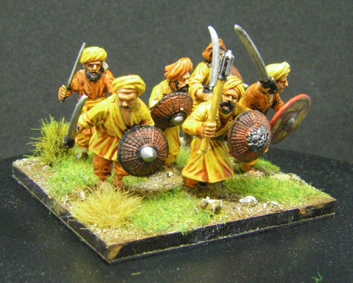ADLG, 28mm kitbashed Arab Infantry: Perry 28mm