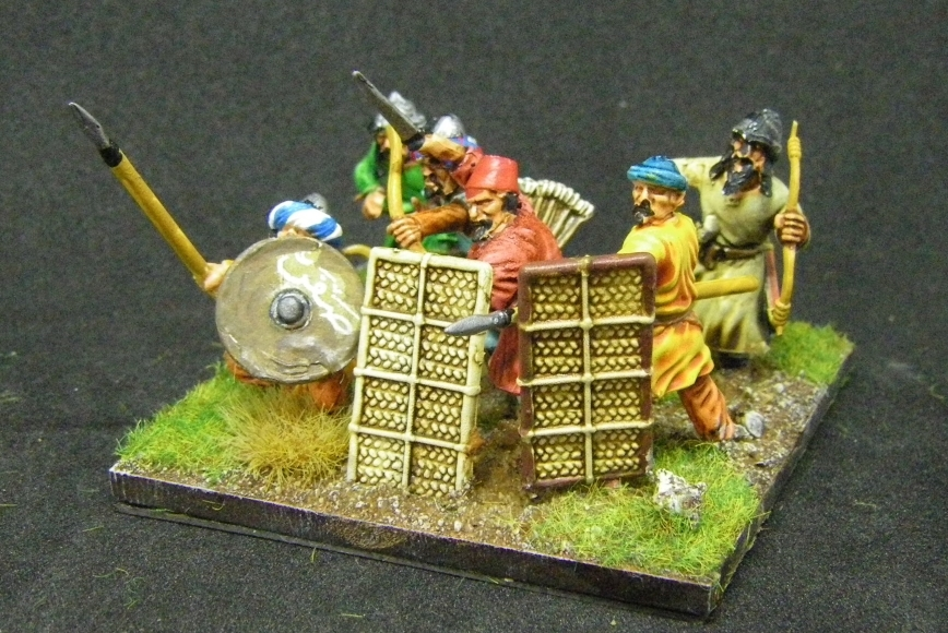 ADLG, 28mm kitbashed Arab Infantry: Gripping Beast, Fireforge, 28mm
