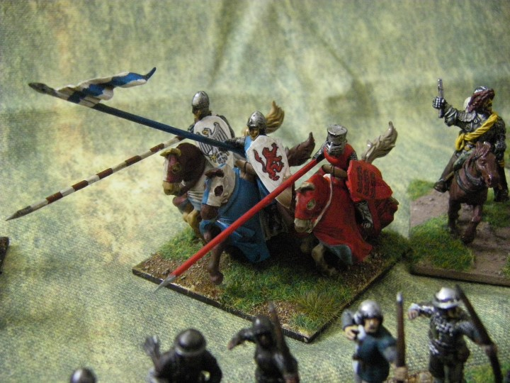 28mm 25mm L'Art de la Guerre Fireforge Knights being painted