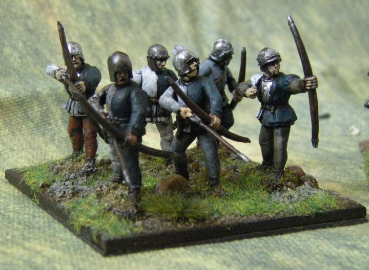 28mm 25mm L'Art de la Guerre Perry Plastics being painted