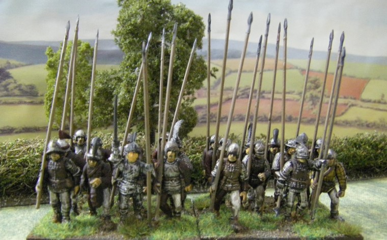 28mm 25mm L'Art de la Guerre Perry Plastic European Mercenaries being painted