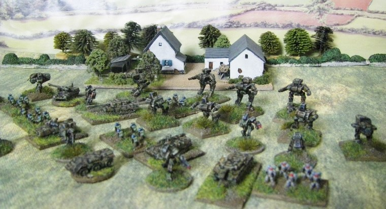 6mm, 1/300th, 1/300 Sci Fi GZG, Ground Zero Games Large Mecha Units, Small Walkers with Rocket Pods, Medium Mecha Units and Heroics & Ros West German Leopards and Marders