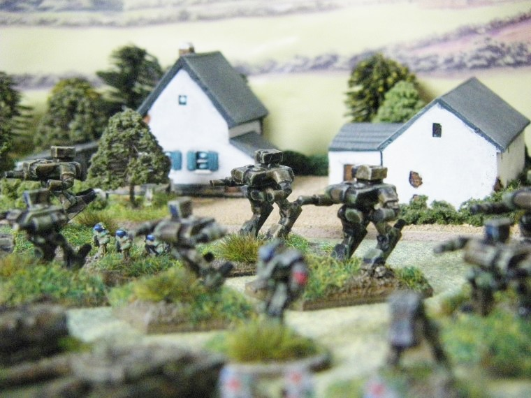 6mm, 1/300th, 1/300 Sci Fi GZG, Ground Zero Games STURMKAMPFER being painted