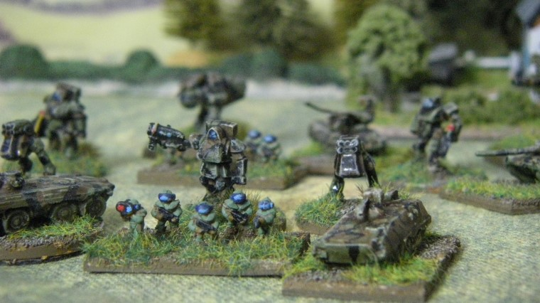 6mm, 1/300th, 1/300 Sci Fi GZG, Ground Zero Games STURMKAMPFER, Tortoise, NAC INFANTRY, Small Walkers with Rocket Pods