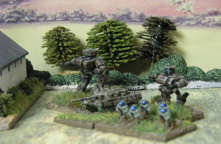 6mm, 1/300th, 1/300 Sci Fi GZG, Ground Zero Games Large Walker, Heroics & Ros Leopard 2