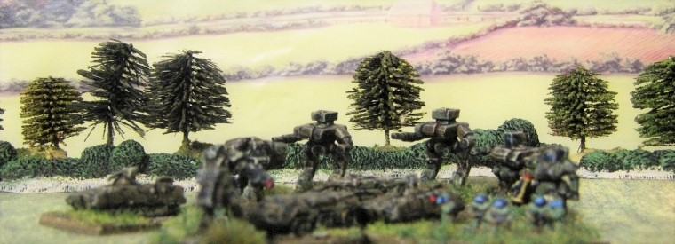 6mm, 1/300th, 1/300 Sci Fi GZG, Ground Zero Games walkers