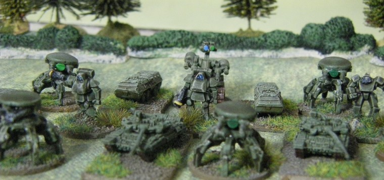 6mm, 1/300th, 1/300 Sci Fi GZG, Ground Zero Games SF troops with GHQ T90