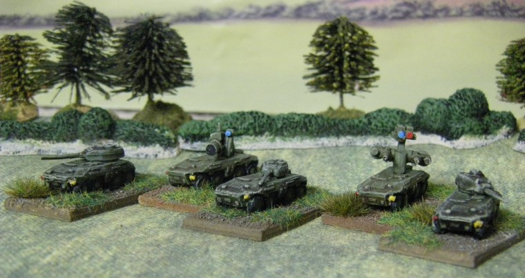 6mm, 1/300th, 1/300 Sci Fi Light Attack Vehicle team