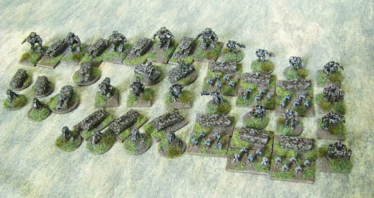 6mm, 1/300th, 1/300 Sci Fi GZG, Ground Zero Games NAC force