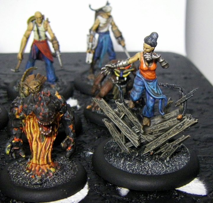 Malifaux, Mei Feng Rail Crew Painted, 30mm