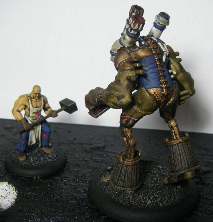 Malifaux, Mei Feng Rail Crew Painted, Rail Golem and Kang