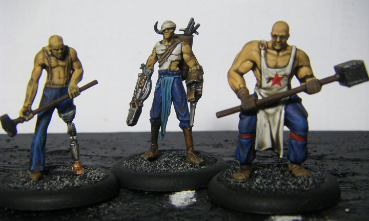Malifaux, Mei Feng Rail Crew Kang Painted, 30mm