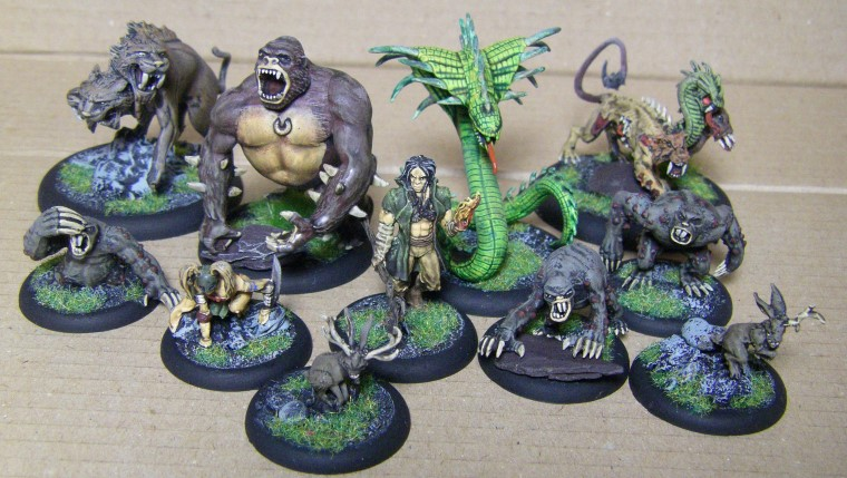 Malifaux, Marcus Crew Beasts, 30mm
