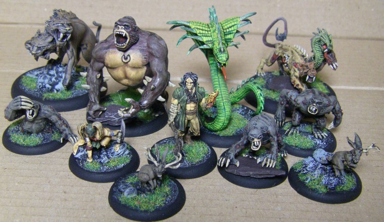 Malifaux, Marcus Crew Beasts Painted, 30mm