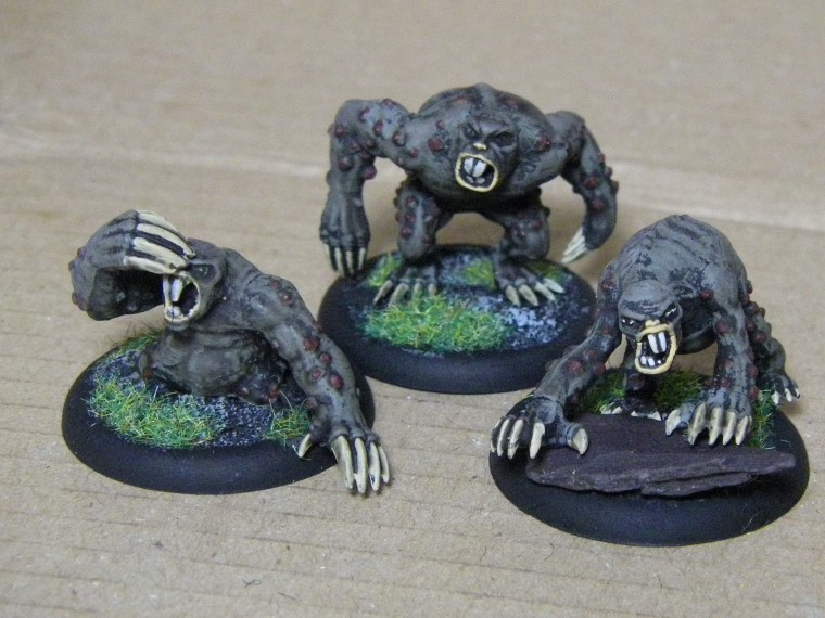 Malifaux, Marcus and Ramos Arcanist Crew Molemen Painted, 30mm