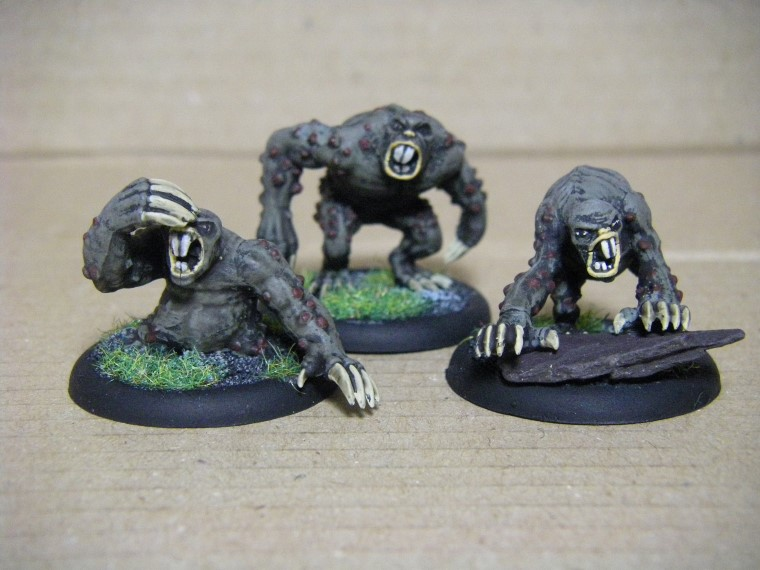 Malifaux, Marcus and Ramos Arcanist Molemen painted, 30mm