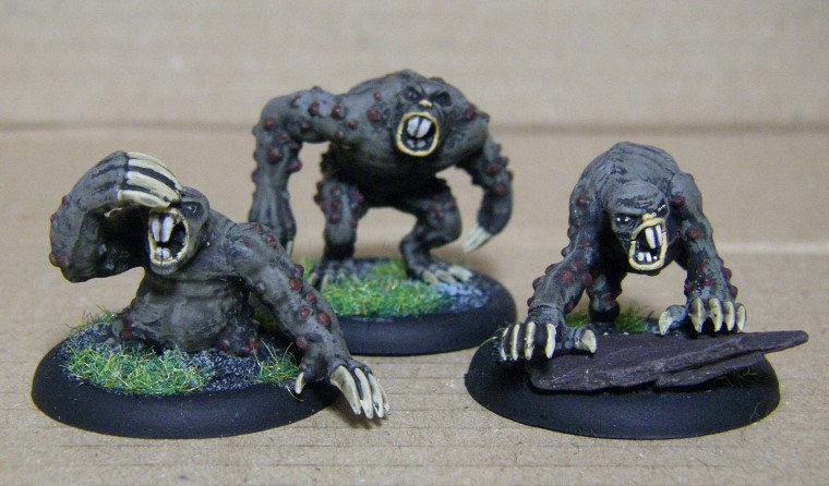 Malifaux, Arcanist, Molemen Painted, 30mm