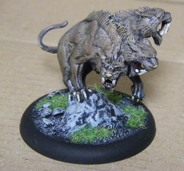 Malifaux, Sabertooth Cerberus  Painted, 30mm