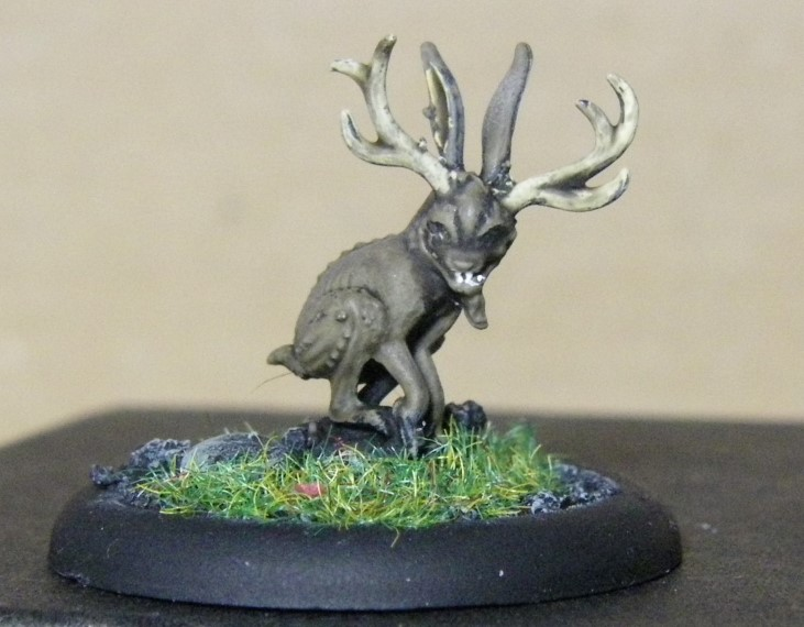 Malifaux, Marcus and Ramos Arcanist Crew Jackalope Painted, 30mm