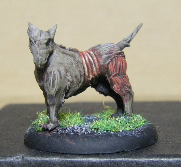 Malifaux, Marcus and Ramos Arcanist Canine Remains Painted, 30mm