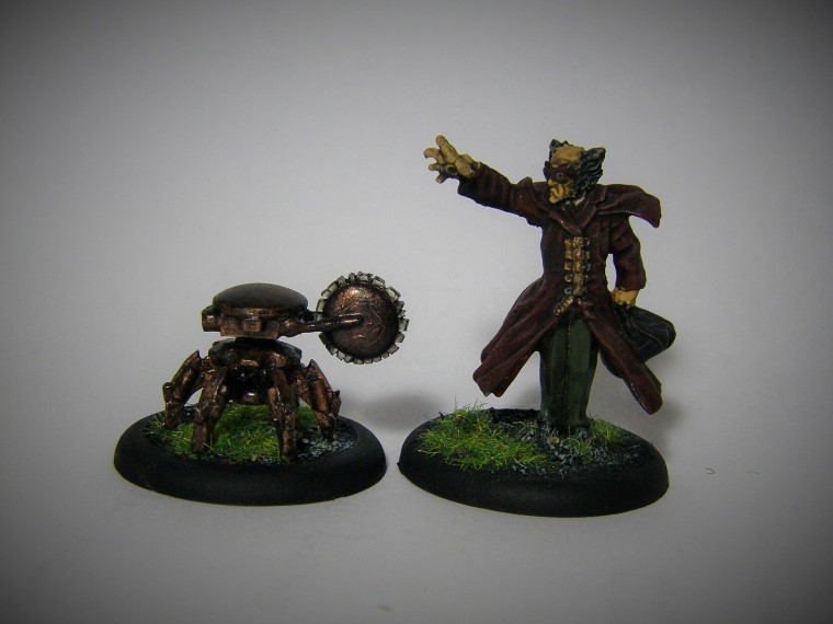 Malifaux, Ramos and Brass Arachnid proxy Painted, 30mm