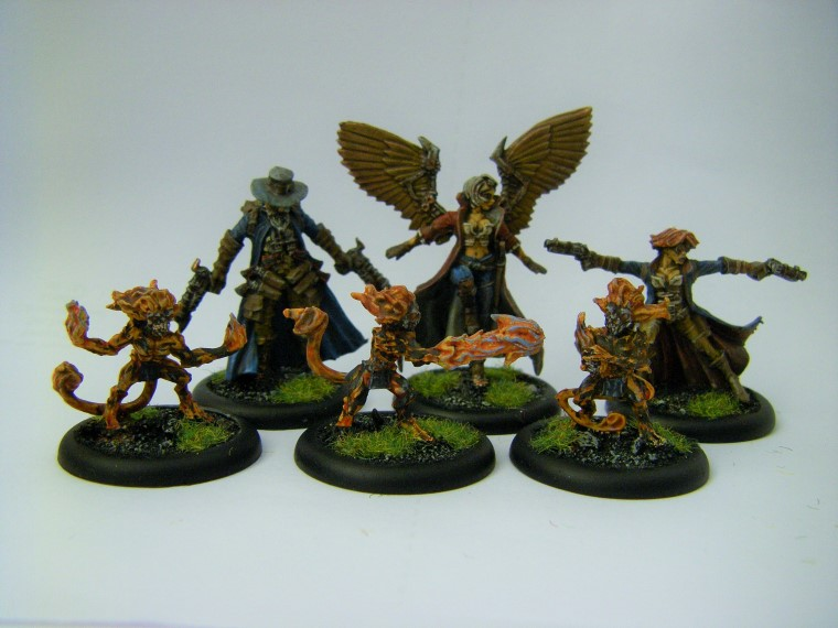 Malifaux, Arcanist Photos of Kaeris Crew ,Metal and Plastic, 32mm