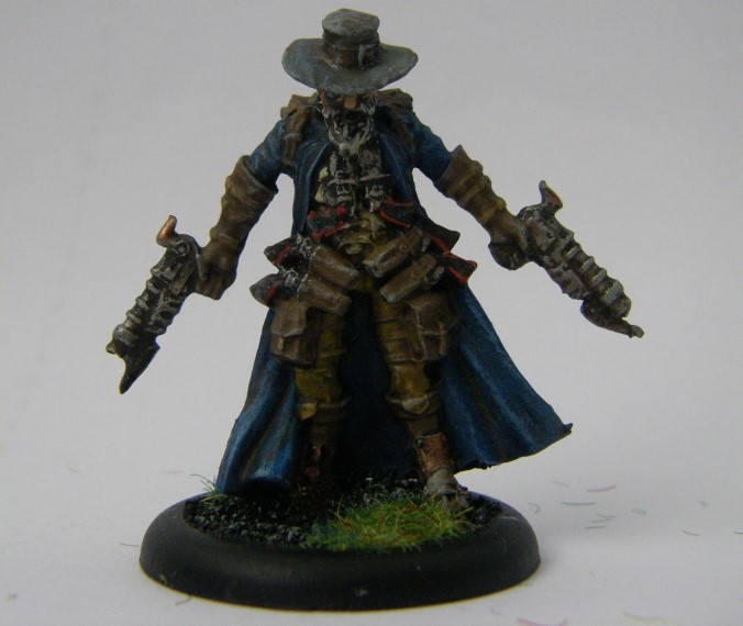 Malifaux, Arcanist Photos of Male Gunsmith Kaeris Crews ,Metal and Plastic, 32mm