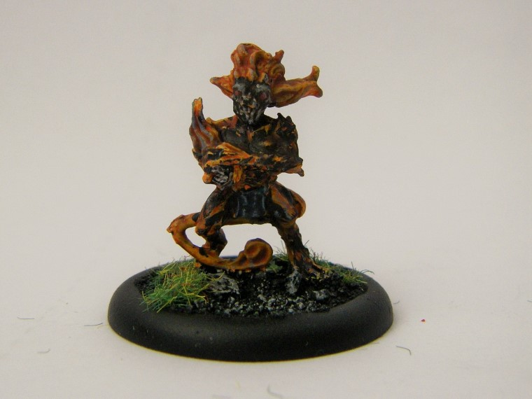Malifaux, Arcanist Photos of Fire Gamin Kaeris Crews ,Metal and Plastic, 32mm