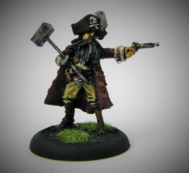 Malifaux, Arcanist Photos of The Captain Proxy, Metal and Plastic, 32mm
