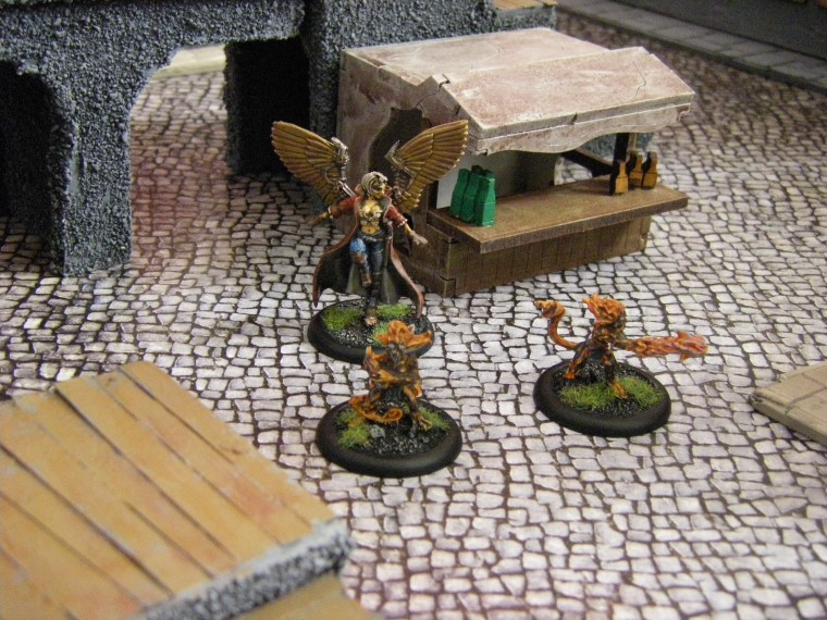 Photos of Home made Malifaux City Terrain Painted, Wyrd Games