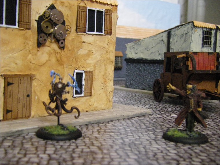 Photos of ramos, Electrical Creation in some Home made Malifaux City Terrain Painted, Wyrd Games
