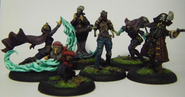 Malifaux, Arcanist faction Photos of The Ironsides Crew Box Painted, Wyrd Games