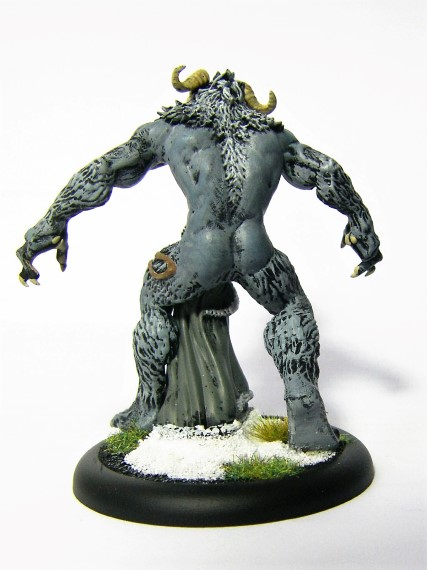 32mm Malifaux Wyrd Games Arcanist Snowstorm being painted