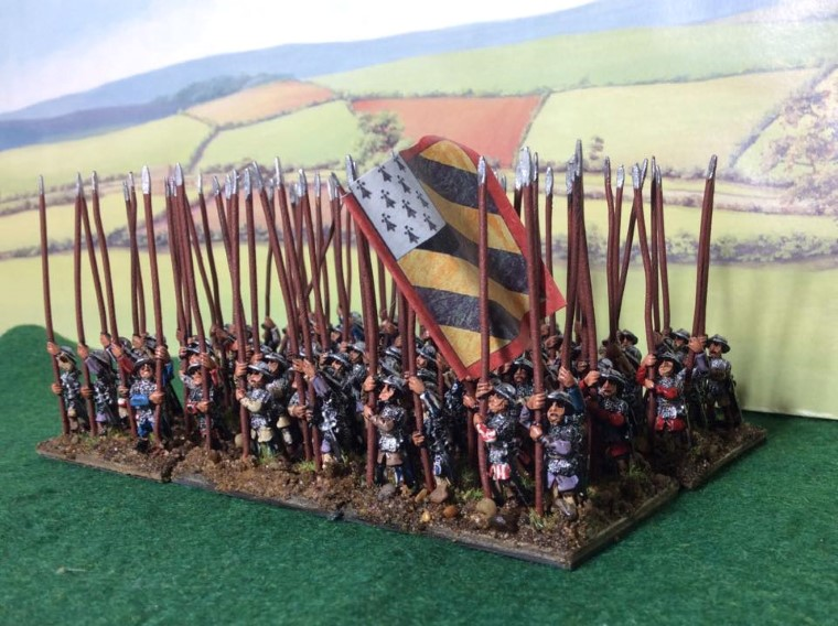 L'Art de la Guerre, Feudal German Pikemen 15mm Museum Miniatures