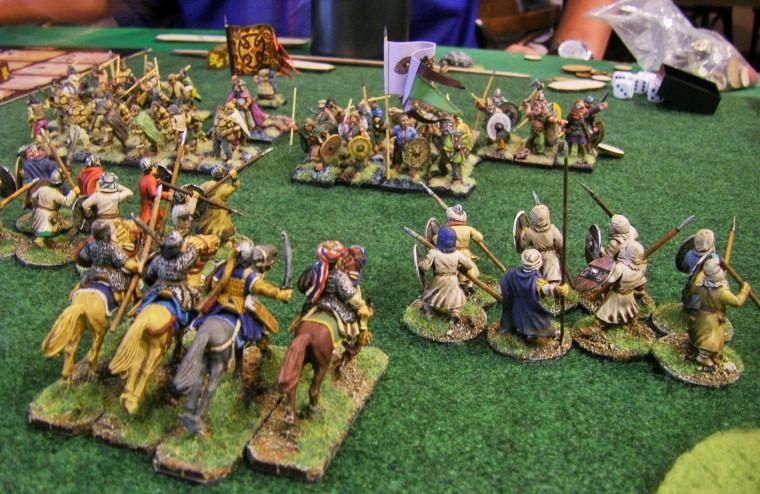 28mm Curteys 12 x Medieval Crusader spearmen 02 lion Rampant Saga unpainted