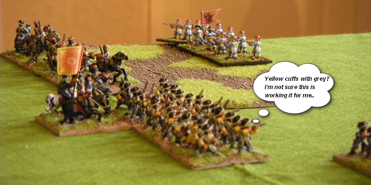 FoGR Age of the Sun King: Later Louis XIV French Dragoons clash with Habsburg Austrians, 15mm