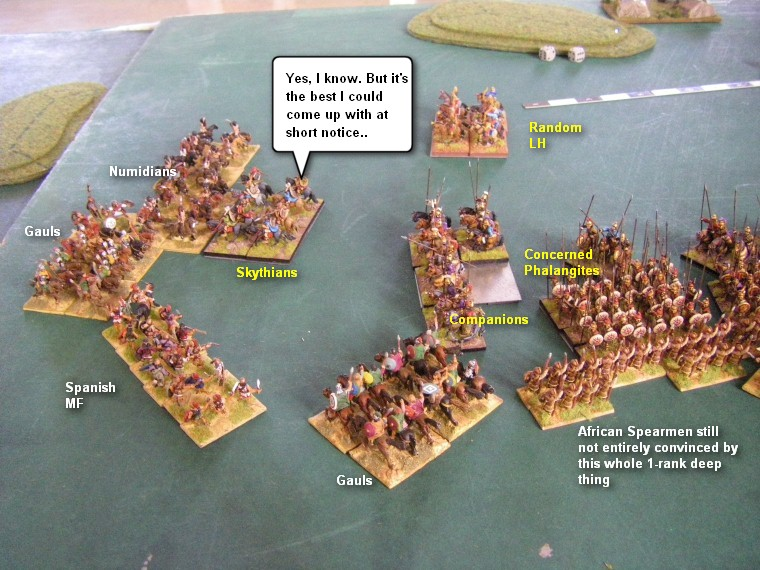 Field of Glory FoG Ancients V1.0: Later Carthaginian, Hannibal in Italy vs Alexandrian Macedonian, 15mm