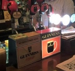traditional Guinness taps